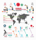 Infographic  virus icons set. — Vetorial Stock