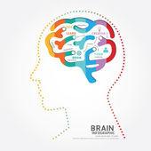 Brain design diagram — Vector de stock