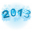 2013 Happy new year.illustration for print — Stock Vector