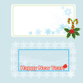 Cristmas postcards for your web site — Stock Vector