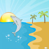 Dolphin — Stock Vector