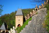 Parte del castillo de karlstejn — Foto de Stock