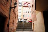 Típica rua na cidade velha de nuremberga — Foto Stock