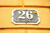 Austrian street sign — Stock Photo