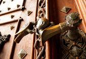 Klamka drzwi antyczne — Zdjęcie stockowe