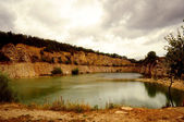 Flooded quarry — Stock Photo