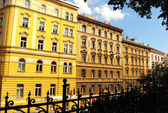 Typical buildings of Prague New Town district — Stock Photo