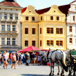 Stock Photo: Prague Old Town and horse-cart