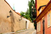 Picturesque medieval district of Prague — Stock Photo