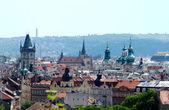 Panoramic view of Prague center — Stock Photo