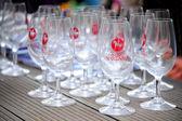 Sada sklenice na víno — Stock fotografie