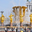 The Friendship of the People fountain at the All-Russia Exhibition Centre VDNH — Stock Photo