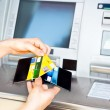 Cash withdrawal with Viscard — Stock Photo #13669526