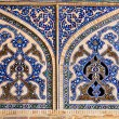 Tiled oriental mosaic wall of Ateegh Jame mosque , Esfahan — Stock Photo