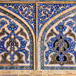 Stock Photo: Tiled oriental mosaic wall of Ateegh Jame mosque , Esfahan