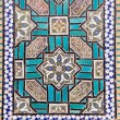 Tiled oriental ornaments on Shrine — Stock Photo #13671300