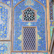 Tiled oriental ornaments mosque — Stock Photo