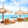 Stock Photo: Beach rest pavillion in Gili islands, Meno