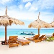 Beach rest pavilion in Gili island — Stock Photo #13672829