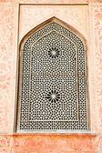 Oriental ornamented window of Ali Qapu Palace, Iran. — Stock Photo
