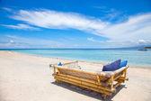 Beach rest pavilion in Gili island — Stock Photo