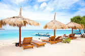 Beach rest pavillion in Gili islands, Meno — Stock Photo