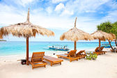 Beach rest pavilion in Gili island — Stock Photo