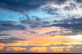 Dramatic sunset sky — Stock Photo