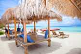 Beach rest pavillion in Gili islands, Trawangan — Stock Photo