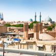 View of ancient city of Yazd, Iran - Stock Photo