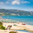 Golden sands beach in Bulgaria. - Stock Photo