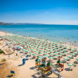 Panoramic view of Golden Sands beach, Bulgaria. - ストック写真