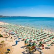 Panoramic view of Golden Sands beach, Bulgaria. - Stock Photo