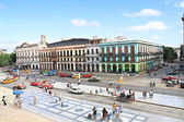 Panoramic view on Prado st. in front of Capitolio in Old Havana — Stock Photo