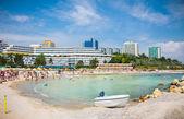 Pláž krásná olimp v létě, rumunsko. — Stock fotografie