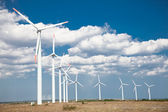 Wind turbines farm, alternative energy, Bulgaria. — Stock Photo