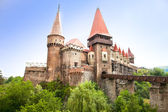 The Hunyad Castle. Renaissance castle in Hunedoara , Romania — Stock Photo