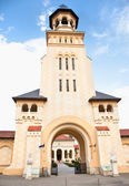 Tower of Coronation Cathedral, Alba Iulia, Romania — Stock Photo