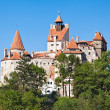 Dracula's Castle - Bran Castle in Transylvania, Romania - Stock Photo