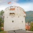 The White Tower in Brasov, Romania. - Stock Photo
