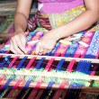 Sasak tribe lady weaving, Lombok — Photo