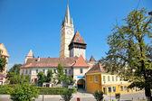 Kule lutheran kilisesi medias, transilvanya, romanya — Stok fotoğraf