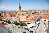 Historical architecture in Sibiu, Transylvania, Romania . — Stock Photo