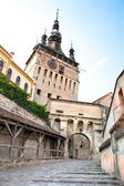 Clock Tower at Sighisoara Citadel in Sighisoara, , Transylvania — Stock Photo