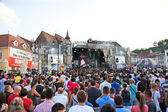 At Music Festival Ursus Evolution at Piata Sfatului, Bras — Stock Photo