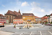 The Council Square in downtown, Brasov, Romania. — Stock Photo