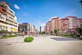 Central square of Targoviste, (Tirgoviste), Romania. — Stock Photo