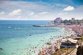 красивый песчаный пляж в костинешти, констанца, румыния — Стоковое фото