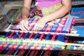 Sasak tribe lady weaving, Lombok — Stock Photo
