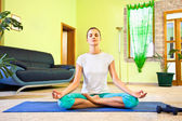 Young beautiful woman has meditation — Stock Photo